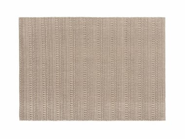 Solid-color rectangular wool rug KNOTWORK