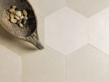 Natural stone wall/floor tiles KUBICA ESAGONO BEIGE