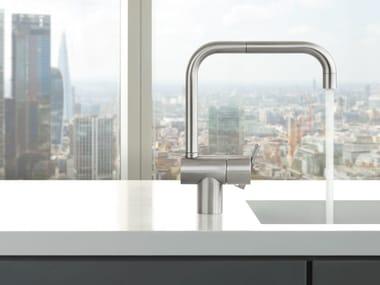 Countertop 1 hole kitchen mixer tap with swivel spout KV1 | Kitchen mixer tap