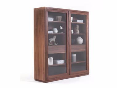 Wood and glass display cabinet KYOTO GLASS CABINET By Riva 1920 ...