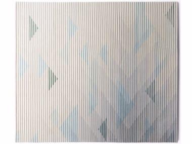Handmade rug with optical pattern LAKE GREY