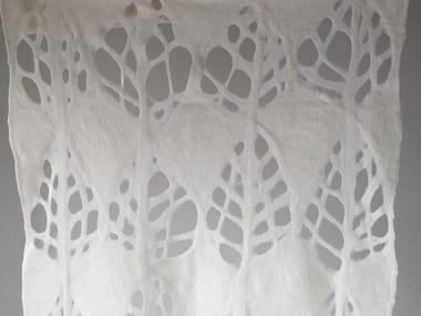 Handmade wool felt lap robe LEAF CUT