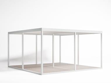 Freestanding aluminium pergola Module Floor Light Roof