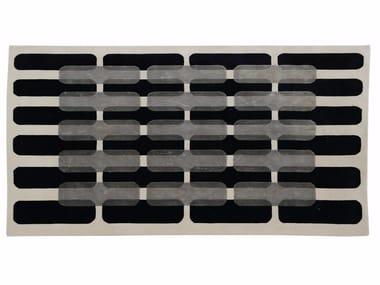 Patterned handmade rectangular rug MAILLON