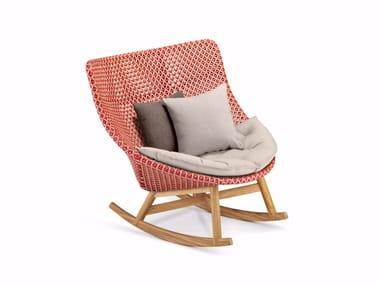 Rocking high-back garden armchair MBRACE | Rocking garden armchair