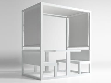 Gazebo with bench BOOTH