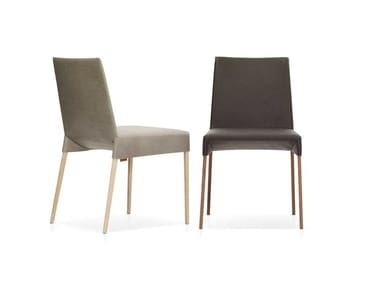 Upholstered leather chair MILA