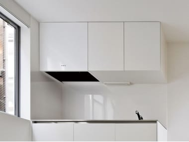 Wall-mounted steel cooker hood MINIMAL
