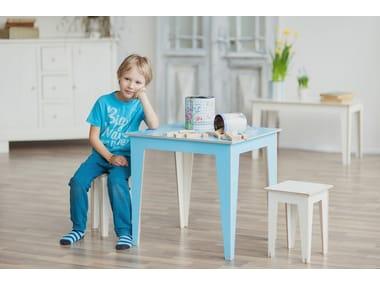 Low plywood stool MINIMI   Low stool