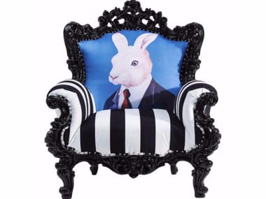 Polyester armchair with armrests MINK MR. RABBIT