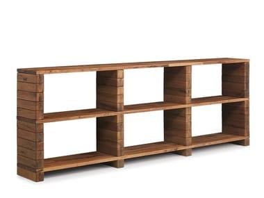 Offenes modulares Bücherregal aus Holz MODULAR