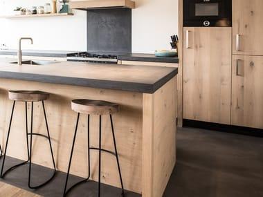 Piano Lavoro Cucina Materiali. Cool Piano Cucina In Hpl With Piano ...