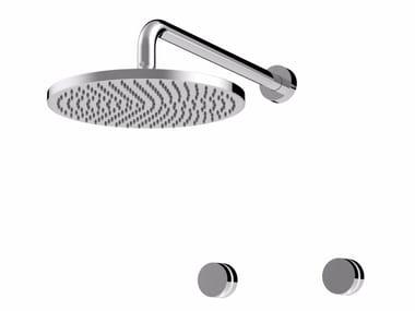 Robinet pour douche avec finition poli avec tête de douche MYRING | Tête de douche encastrable