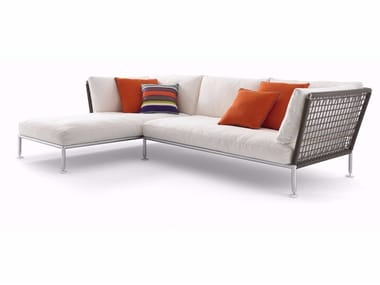 Fabric sofa with chaise longue NEST | Sofa with chaise longue