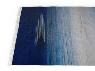 Rectangular wool rug NICH