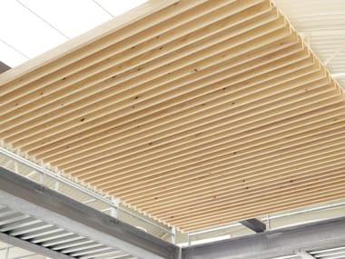 Pannelli per controsoffitto in legno NODOO | Controsoffitto a doghe chiuse