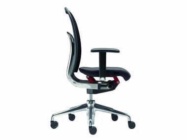 Height-adjustable swivel task chair with armrests NORMA - 381