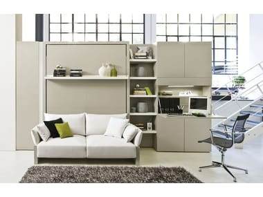 storage wall with foldaway bed nuovoliol 10 - Fold Away Bed