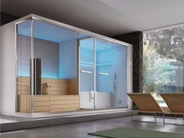 Sauna / turkish bath with bathub OLIMPO