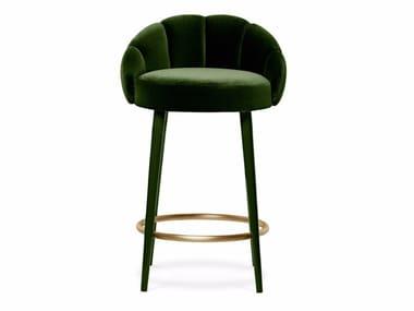 Cadeira alta de tecido com apoio de pés OLYMPIA | Cadeira alta