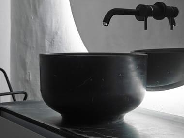 Lavabo sobre encimera redondo ORIGIN | Lavabo de mármol de Carrara