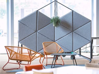 Sound absorbing workstation screen ORION