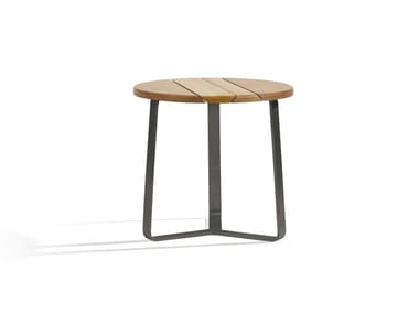 Contemporary style round wooden garden table OUTDOOR SIDETABLE | Round 42
