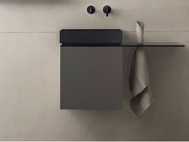 Wall-mounted vanity unit with door P40