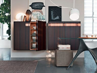 Suspended highboard with doors PASS-WORD | Highboard