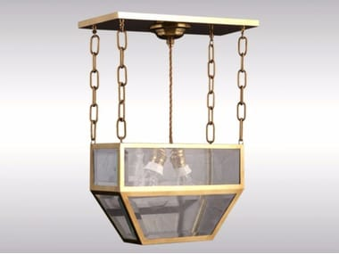 Brass ceiling lamp PENDE