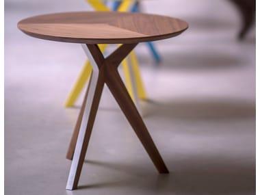Mesa de apoio redonda de madeira PINKIT | Mesa de apoio