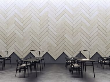 Decorative acoustical panel BAUX ACOUSTIC TILES PLANK