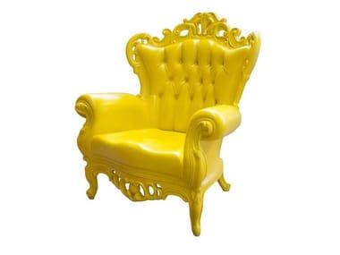 Polyurethane garden armchair with armrests PLASTIC LUIGI