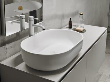 Lavabo sobre encimera óvalo de Solid Surface® PRIME | Lavabo sobre encimera