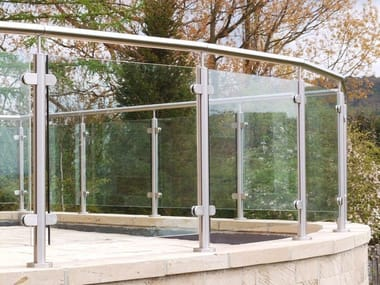 Baranda en acero y vidrio Q-LINE ® | Baranda en acero y vidrio