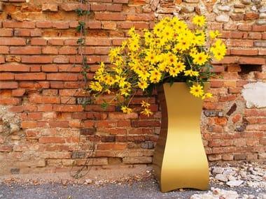 High galvanized plate plant pot QUEEN