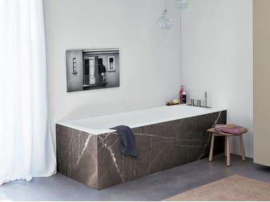 Vasca da bagno rettangolare in Corian® R1 PANNELLABILE