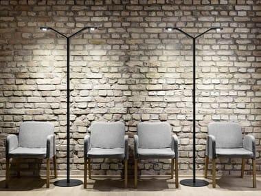LED floor lamp RADIAL FLOOR TWIN