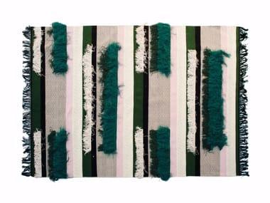 Handmade rectangular striped rug RIDEAUX
