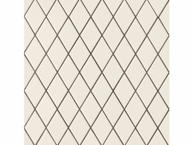Porcelain stoneware wall/floor tiles ROMBINI LOSANGE WHITE GREEN
