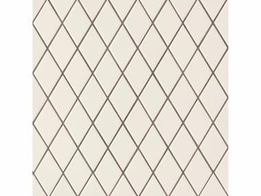 Revêtement de sol/mur en grès cérame ROMBINI LOSANGE WHITE GREY