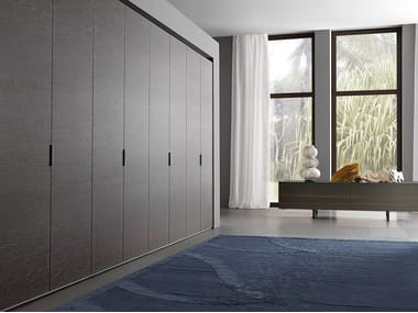 Sectional melamine-faced chipboard wardrobe ROVIX | Sectional wardrobe