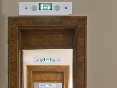 Luce di emergenza da parete in alluminio SAFE SYSTEM | Luce di emergenza da parete