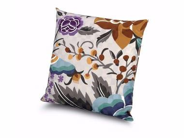 Cuscino in raso di cotone effetto dama SAMOA | Cuscino