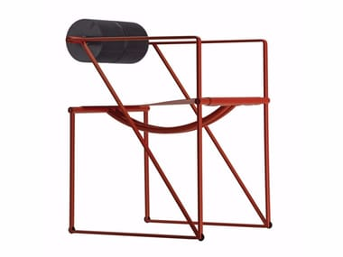 Perforated metal chair with armrests SECONDA COLORS - 602_C