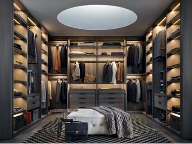 Sectional wooden wardrobe SENZAFINE
