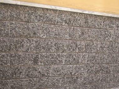 de fachada de piedra natural baldosas de exterior serizzo