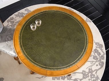 Round solid wood poker table SILVIA | Poker table