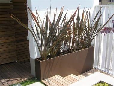 Custom galvanized plate planter SIMPLE SQUARE 2