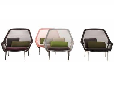 Fabric armchair SLOW CHAIR